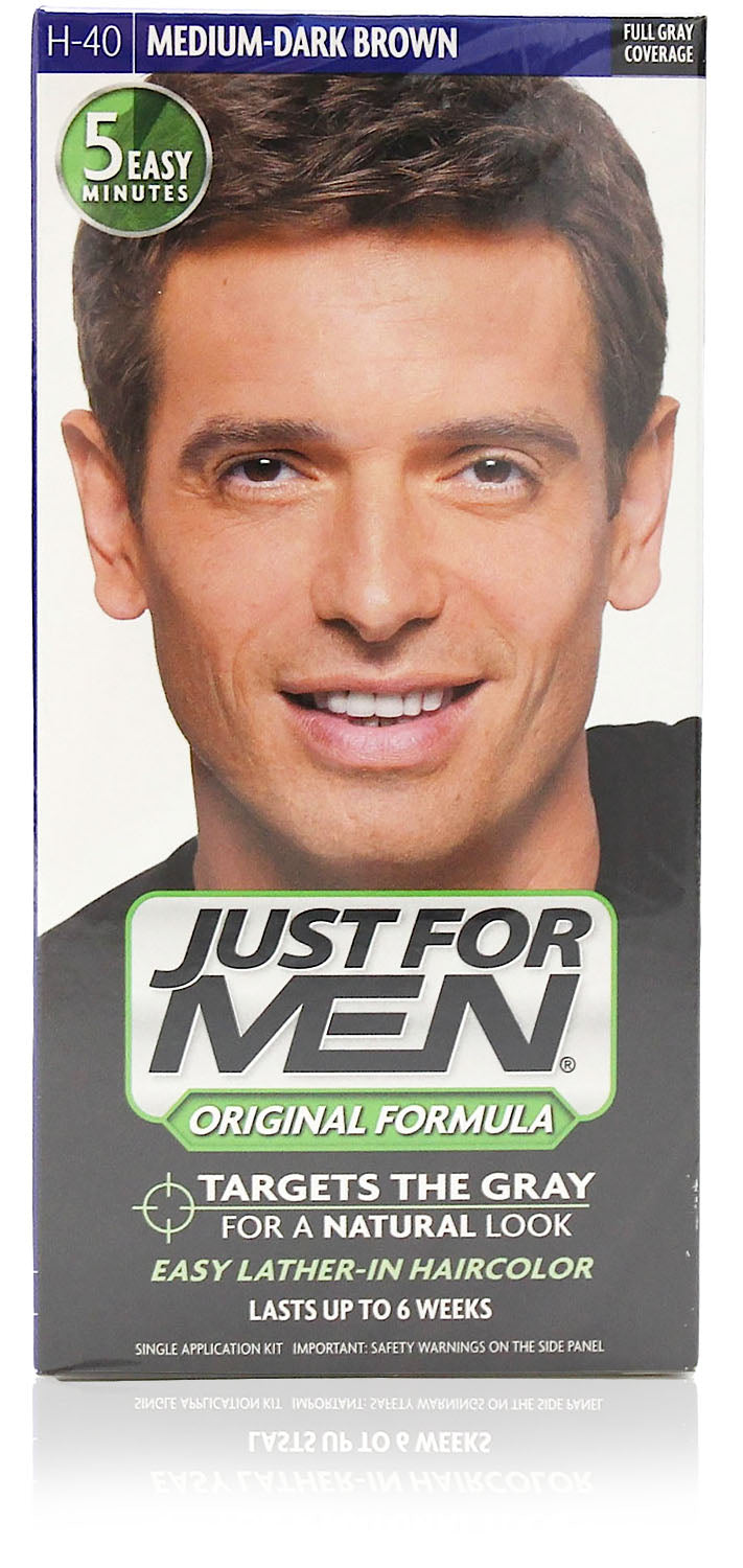 Just for men h-40 original formula medium dark brown (3 pack)