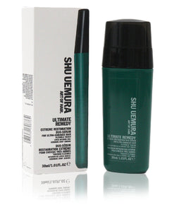 Shu Uemura Ultimate Remedy Extreme Restoration Duo-Serum for Ultra-Damaged Hair, 1.01 Ounce