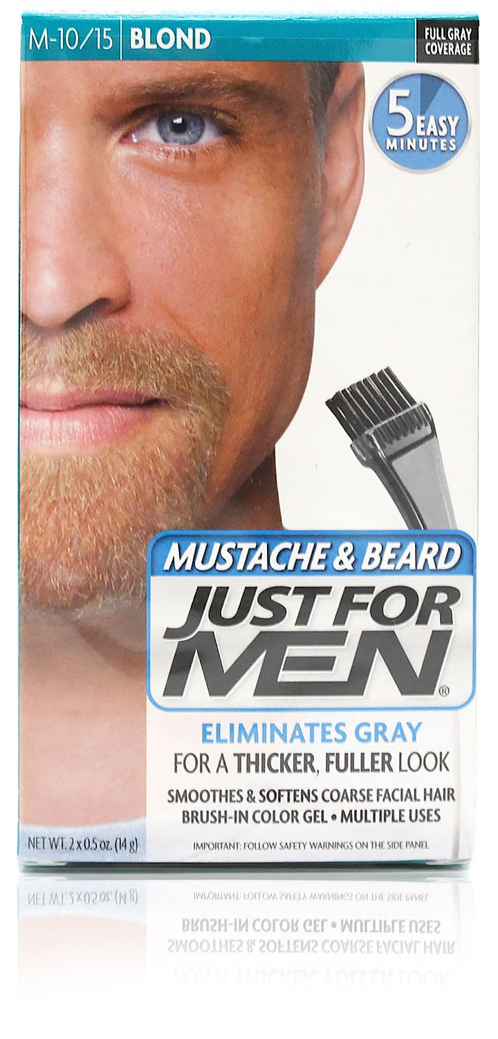Just for men m-10/15 mustache & beard gel blond (3 pack)