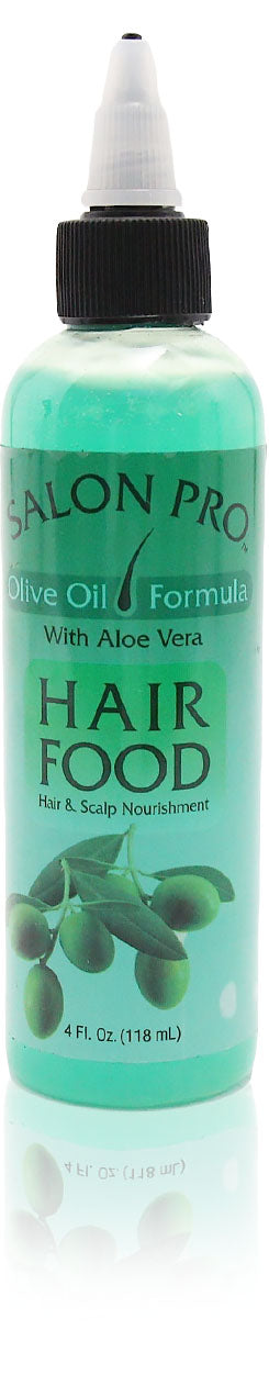 Salon Pro Hair Food OLIVE OIL W/ ALOE VERA 4oz