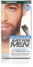 Just for men m-45 mustache & beard gel dark brown (3 pack)