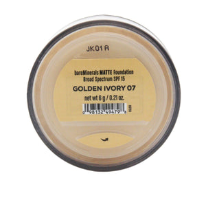 Bare Minerals Matte Foundation Spf 15 - Golden Ivory 07