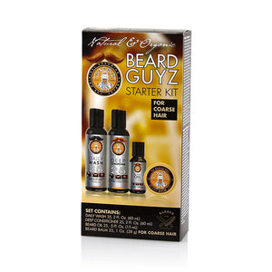 Beard guyz starter kit for coarse hair (4 piece set)