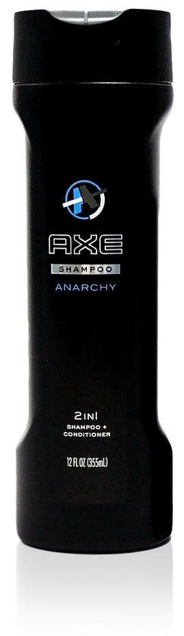 AXE Anarchy for Him 2 in 1 Shampoo and Conditioner, Anarchy for Him 12 oz, Pack of 2