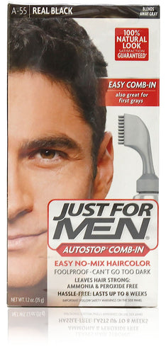 Just for men a-55 autostop comb-in real black (3 pack)