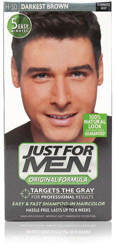 Just for men h-50 original formula darkest brown (3 pack)