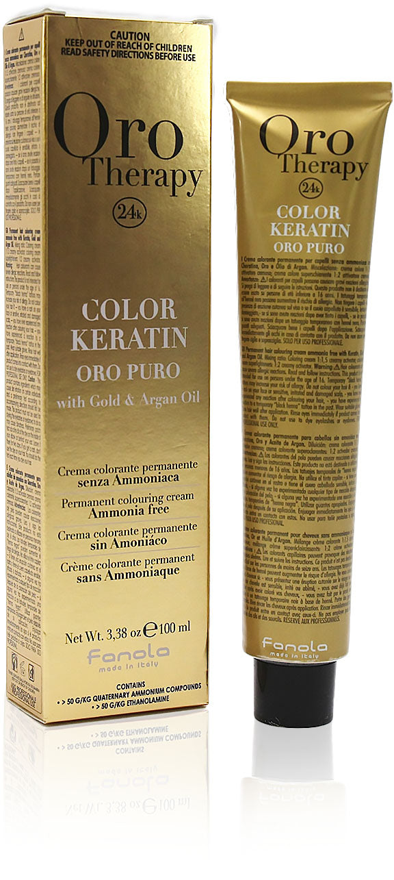 Fanola oro therapy color keratin 5/00 intense light chestnut