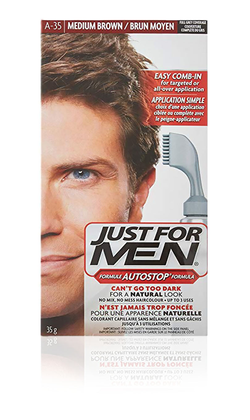 Just for men a-35 autostop comb-in medium brown (3 pack)