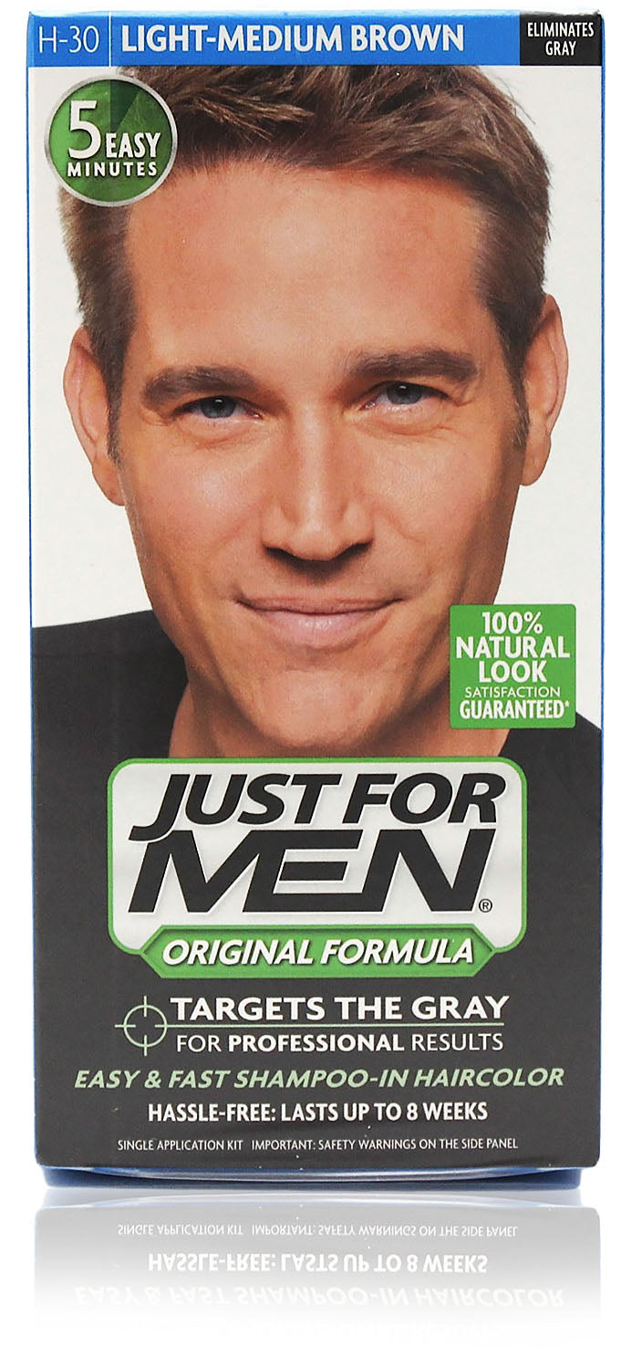 Just for men h-30 original formula light med brown (3 pack)