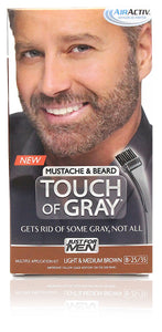 Just for men b-25/35 mustache & beard touch of gray light medium brown (3 pack)