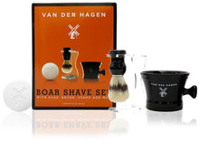 Van der hagen 4 piece luxury boar shave set, with soap, brush, stand and mug