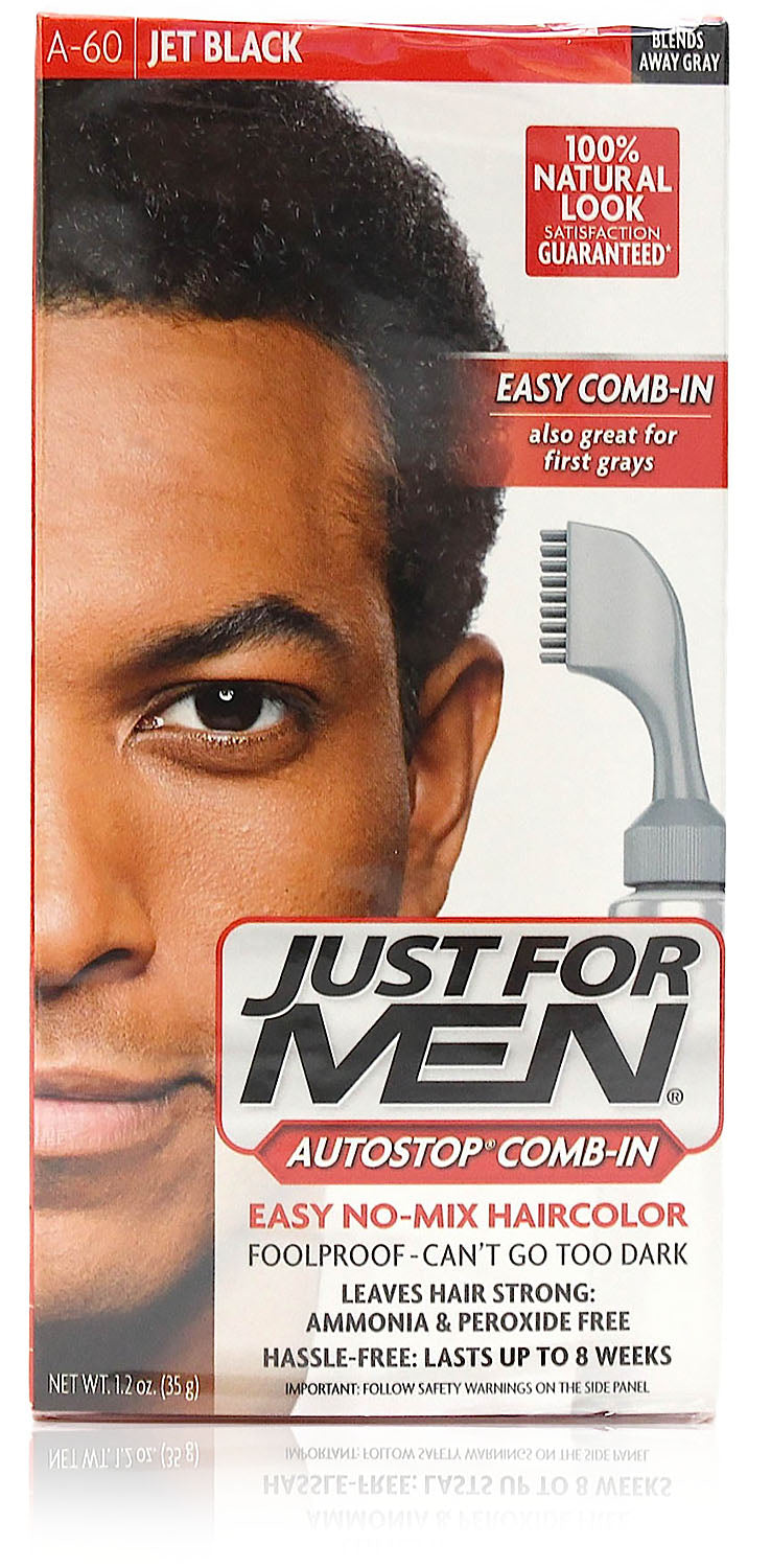 Just for men a-60 autostop comb-in jet black (3 pack)