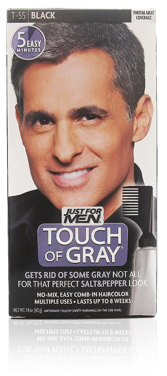 Just for men t-55 touch of gray easy comb-in black (3 pack)