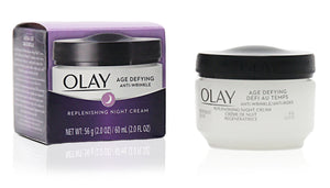 Olay Age Defying Anti-Wrinkle Night Cream, 2 Ounce (Pack of 2