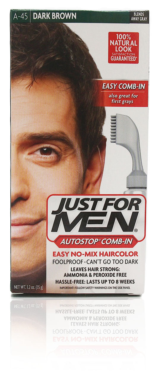 Just for men a-45 autostop comb-in dark brown (3 pack)