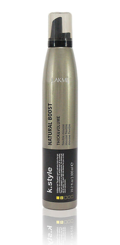 Lakme K.Style Natural Boost Thick And Volume Flexible Mousse 10.2 oz