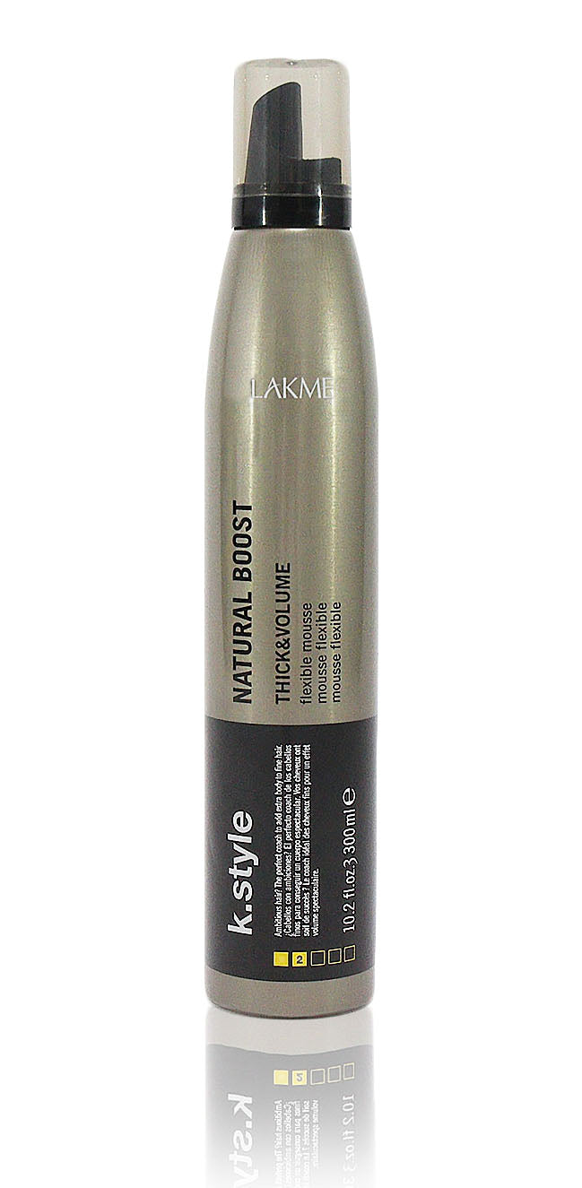 Lakme K.Style Natural Boost Thick And Volume Flexible Mousse 10.2 ozÊ
