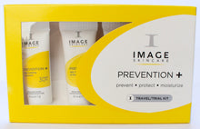 Prevention + prevent, protect moisturizer. Image skincare. Travel/trial kit.
