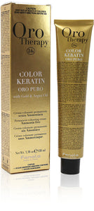 Fanola oro therapy color keratin  6/5 dark blonde mahogany