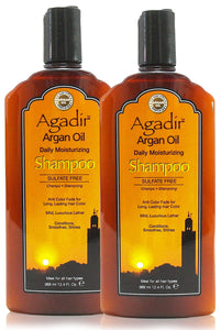 Agadir Argan Oil Daily Moisturizing Shampoo, 12.4 oz (Pack of 2)