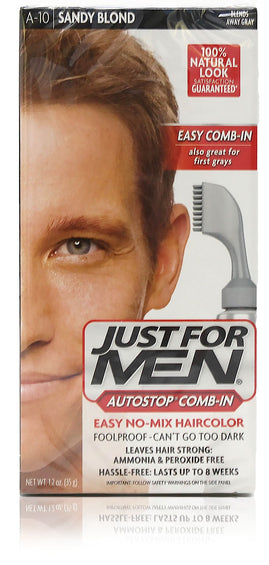 Just for men a-10 autostop comb-in sandy blonde (3 pack)