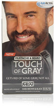 Just for men b-45-55 mustache & beard touch of gray dark brown & black (3 pack)
