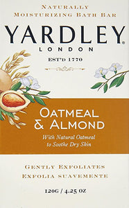 Yardley london oatmeal & almond soap 8 bars/4.25 oz