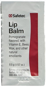 Lip balm pomegranate flavored - 144 packets/box (.5 gm each)