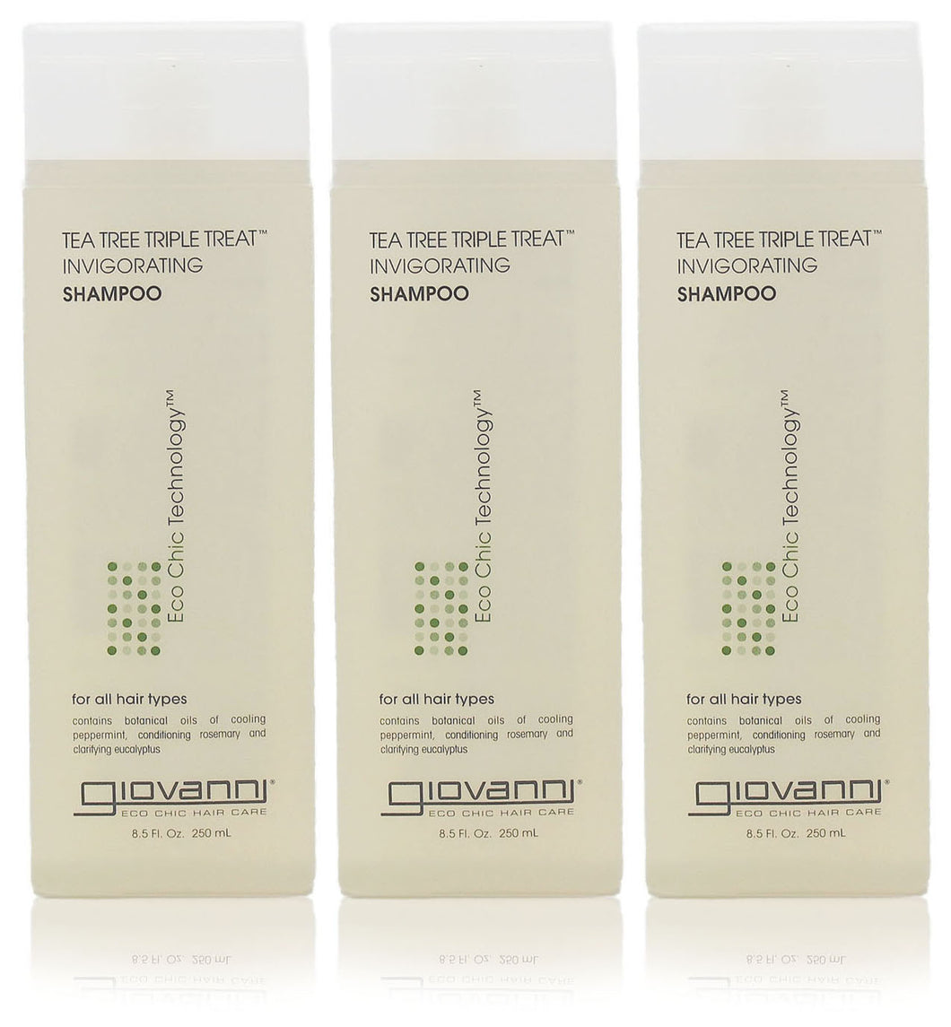 Giovanni tea tree triple treat invigorating shampoo (pack of 3)