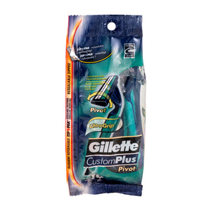 Gillette customplus pivot disposable razors - 10 ct