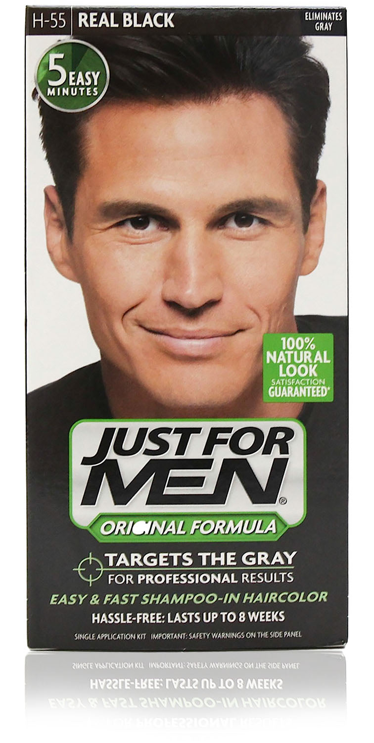 Just for men h-55 original formula real black (3 pack)