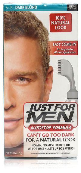Just for men a-15 autostop comb-in dark blond (4 pack)