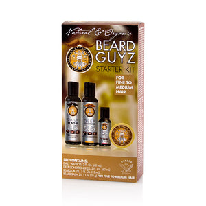 Beard Guyz Starter Kit 4 Piece set for fine to medium Hair