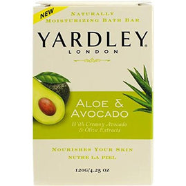 Yardley london aloe & avocado bar soap 8 bars/4.25 oz