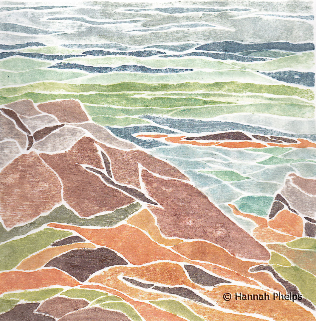 Provincetown Print of a seascape by artist Hannah Phelps.