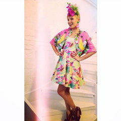 Ciara Monahan Flamingo Cape - worn by Twinks Burnett