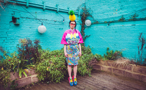 Pineapple Headband & Tropical Flamingo Cape - Ciara Monahan