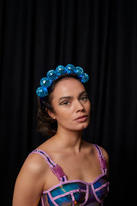 Ciara Monahan - Light Up Disco Ball Crown - Blue