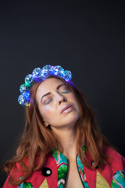 Ciara Monahan - Light Up Disco Ball Crown - Rainbow Lights