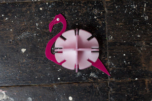 Hand Made Perspex Flamingo Brooch - Ciara Monahan
