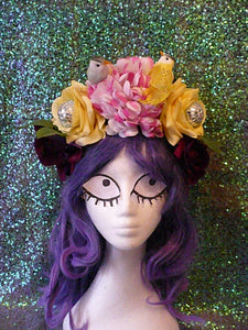 Festival Disco Bird Flower Crown - Hand Made - Ciara Monahan