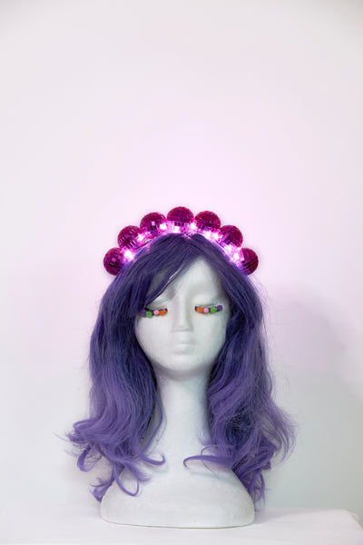 Ciara Monahan - Light Up Disco Ball Crown - Pink