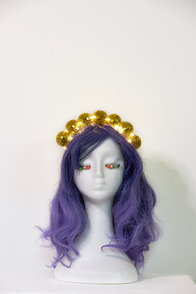 Ciara Monahan - Light Up Disco Ball Crown - Gold