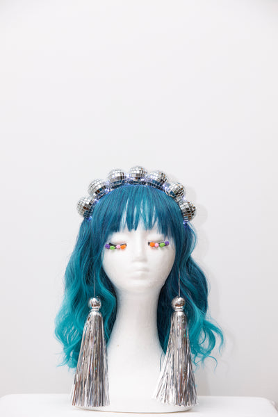 Ciara Monahan - Light Up Disco Ball Crown with Silver Tassels