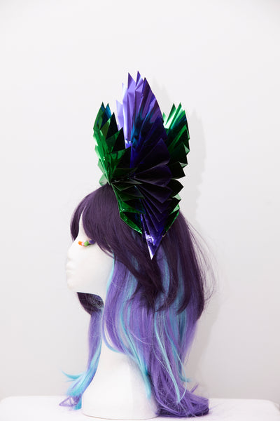 Ciara Monahan-Fold Away Cosmic Peacock Halo Headpiece