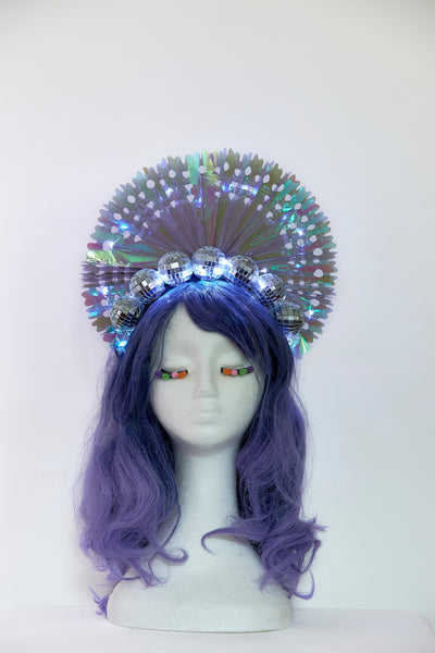Ciara Monahan - Light Up Disco Peacock Crown