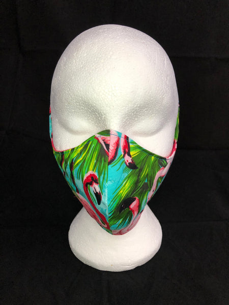 Fitted Flamingo Face Mask - Ciara Monahan