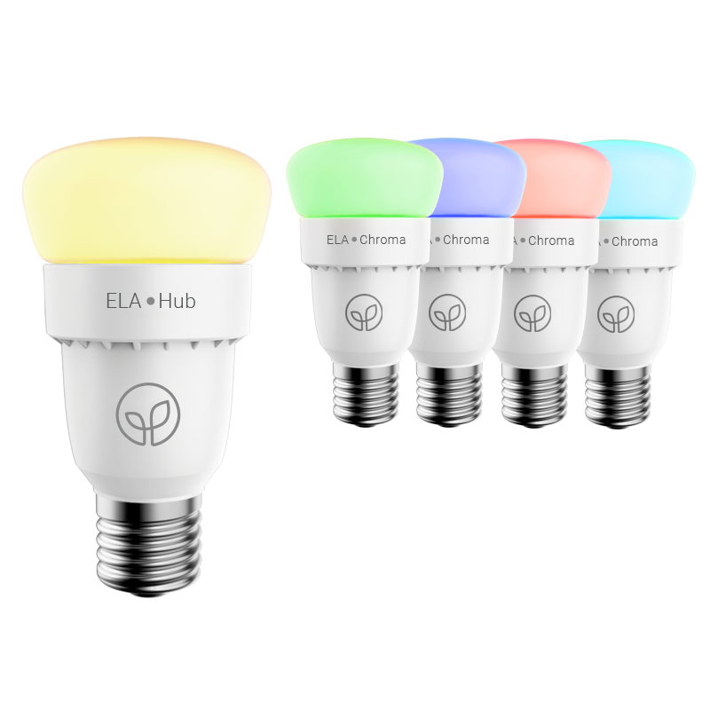 ELA Smart Hub & 4 Chroma Bulbs - Starter Kit
