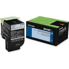 Lexmark CX410 High Yield Black Toner Cartridge (4,000 Yield) (TAA Compliant Version of 80C1HK0)