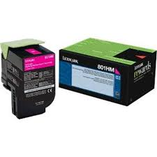 Lexmark CX410 High Yield Magenta Toner Cartridge (3,000 Yield) (TAA Compliant Version of 80C1HM0)